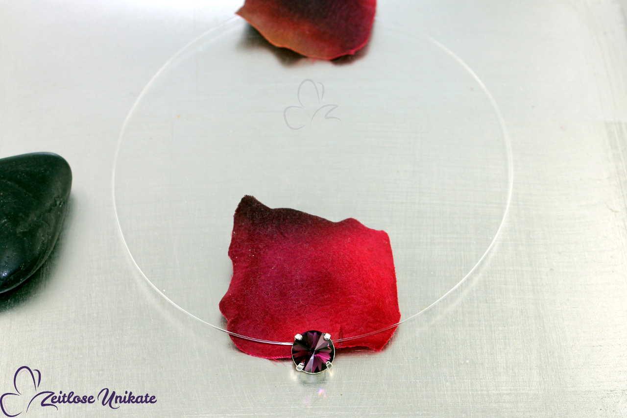 Kristallstein amethyst - lila Kette
