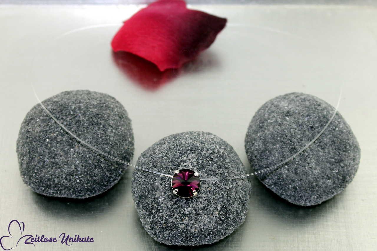 schwebender Stein dunkellila - amethyst