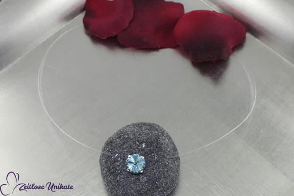 transparente Halskette aquamarine, weitere Farben möglich