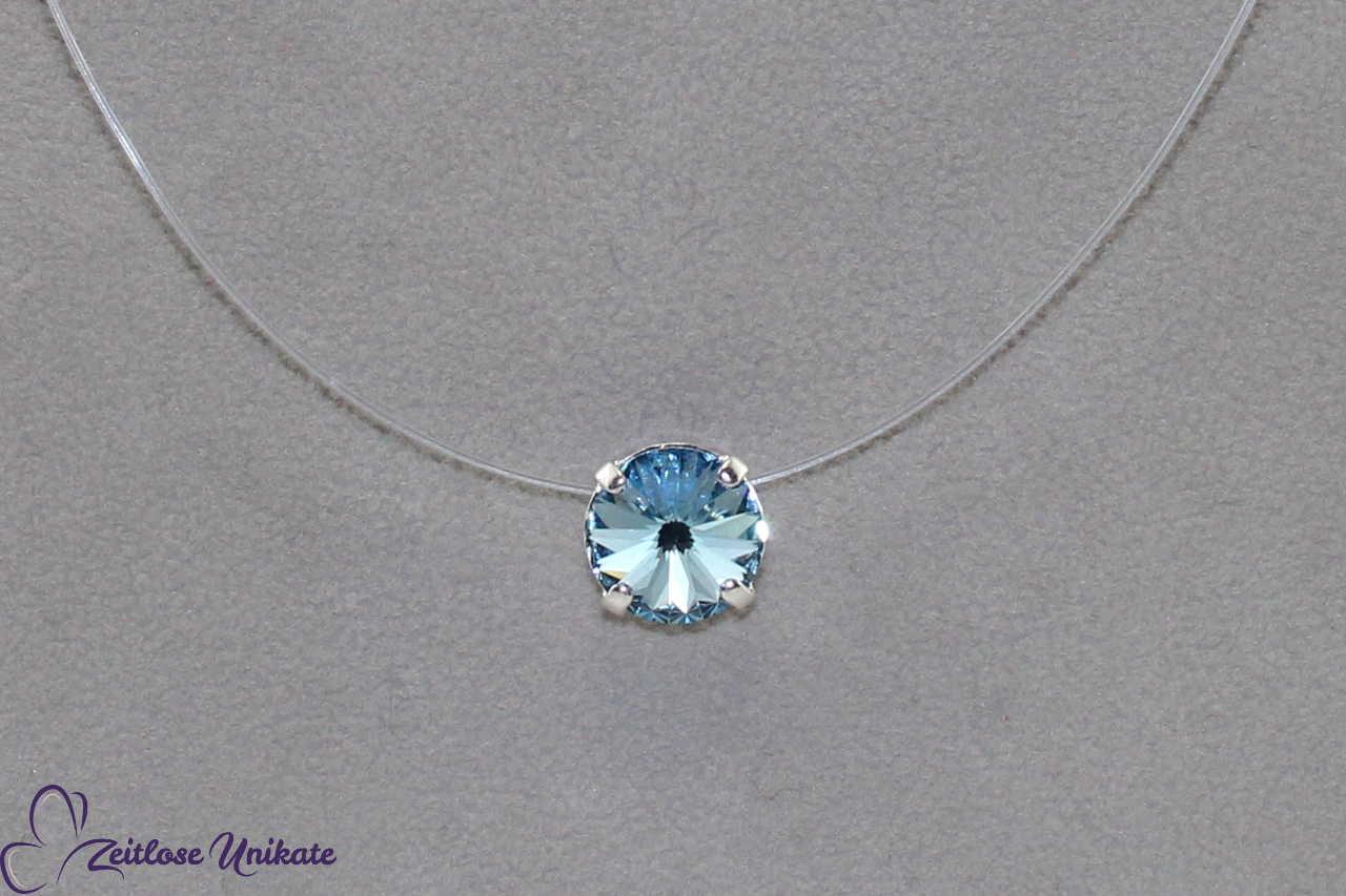 Kristallstein aquamarine - hell blau