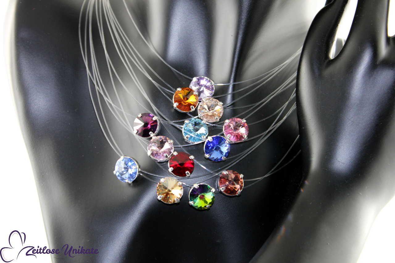 bunte schwebende Steine, 13 Farben
