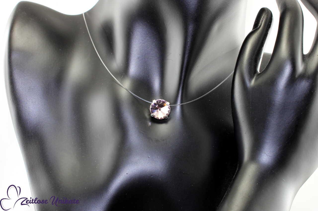 schwebender Stein lila - light amethyst