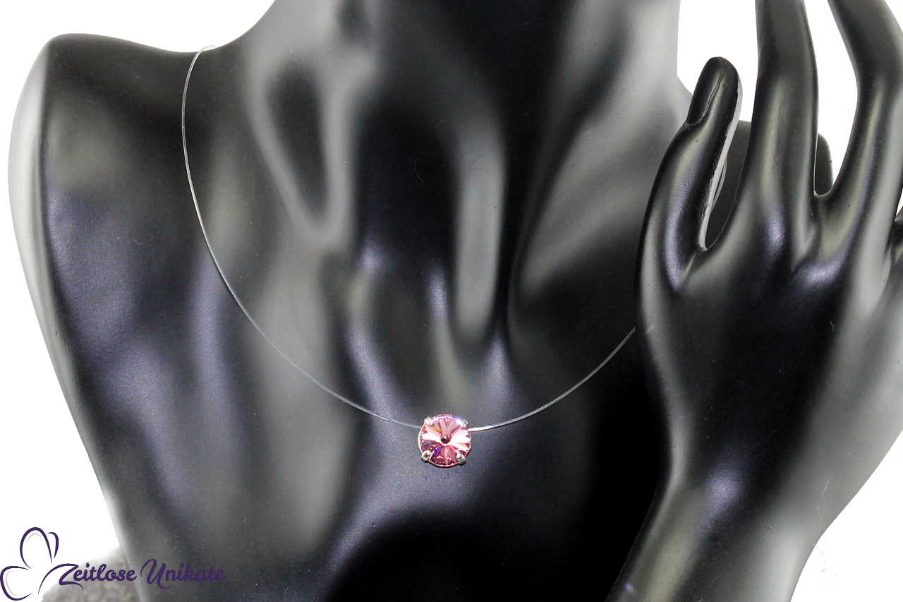 light rose transparente Kette