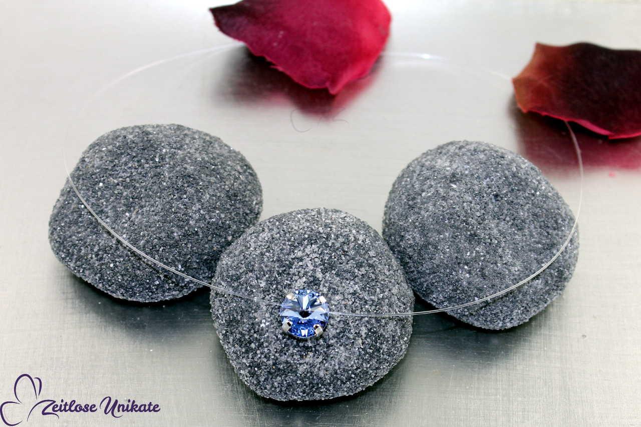 transparente Halskette light sapphire, weitere Farben möglich