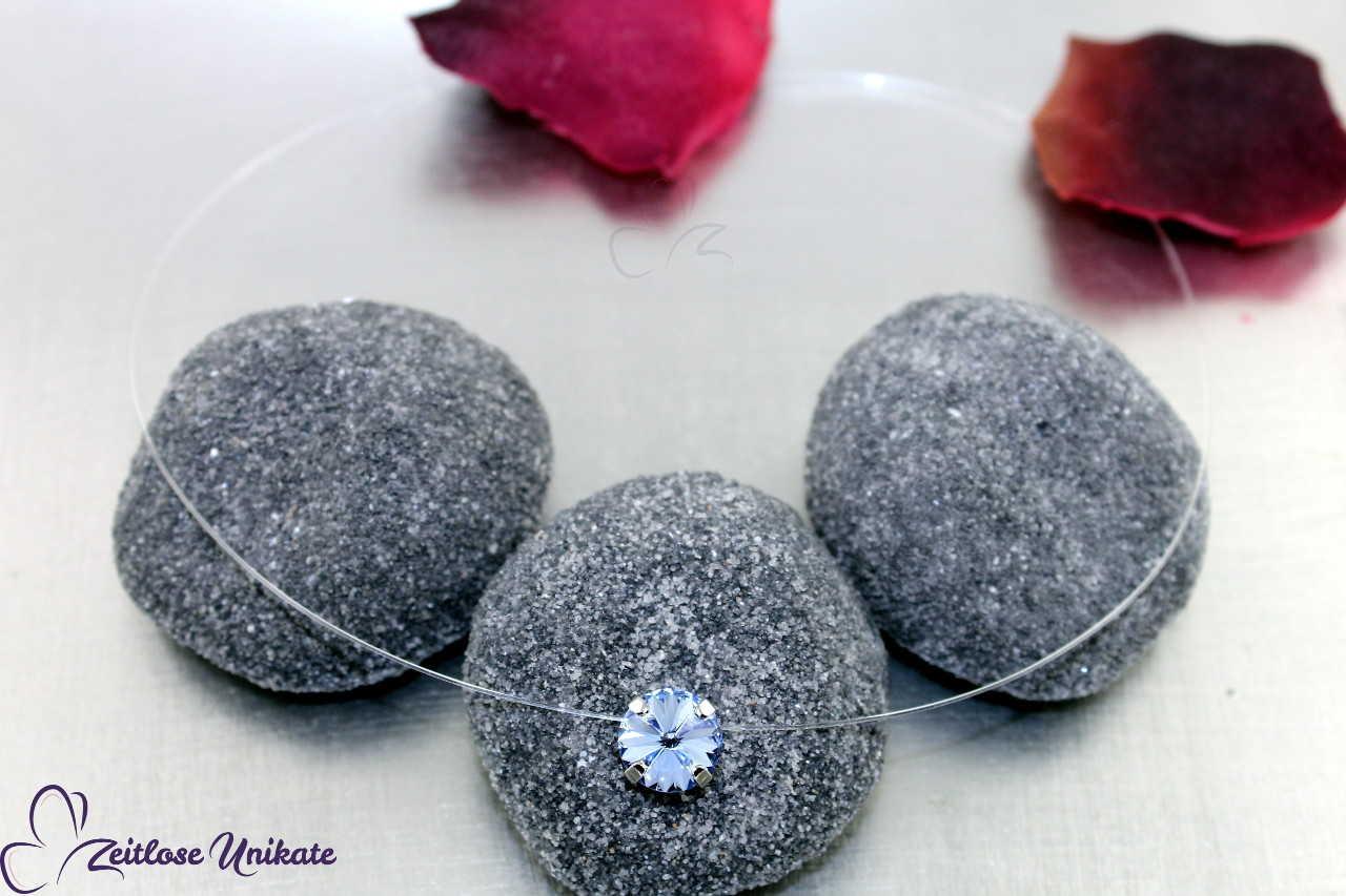 Kristallstein light sapphire - mittelblau