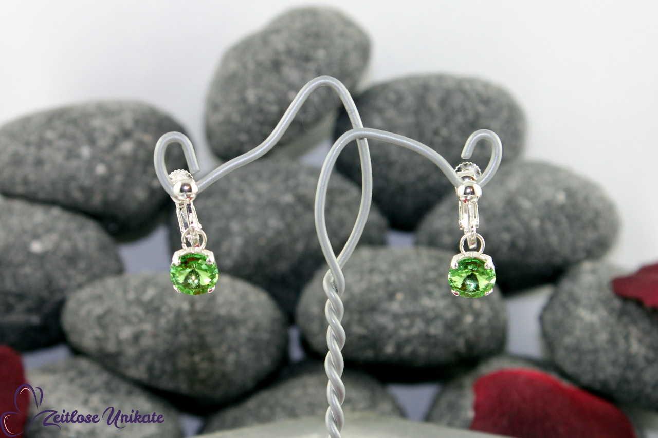 fliegender Stein Ohrringe peridot zeigen das herrliche Grün