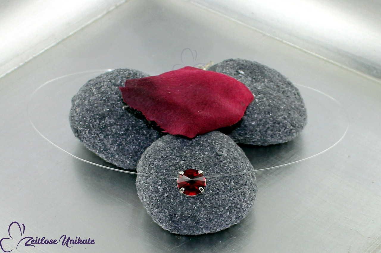 transparente Halskette rot - siam, weitere Farben möglich