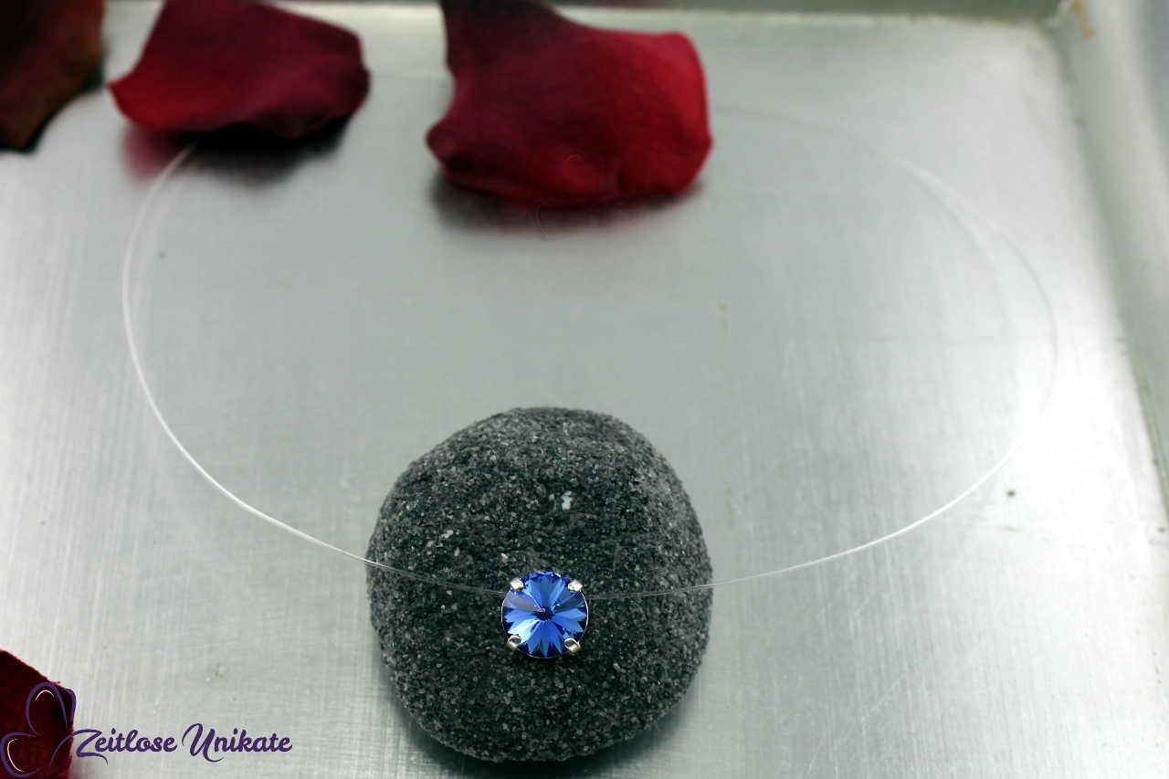 Kristallstein sapphire - blau