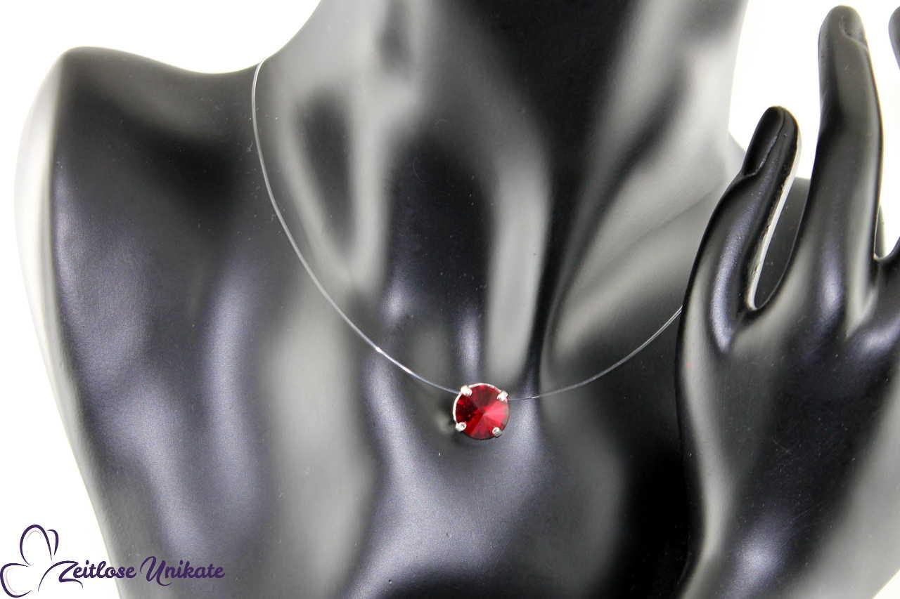 Kristallstein siam - rot