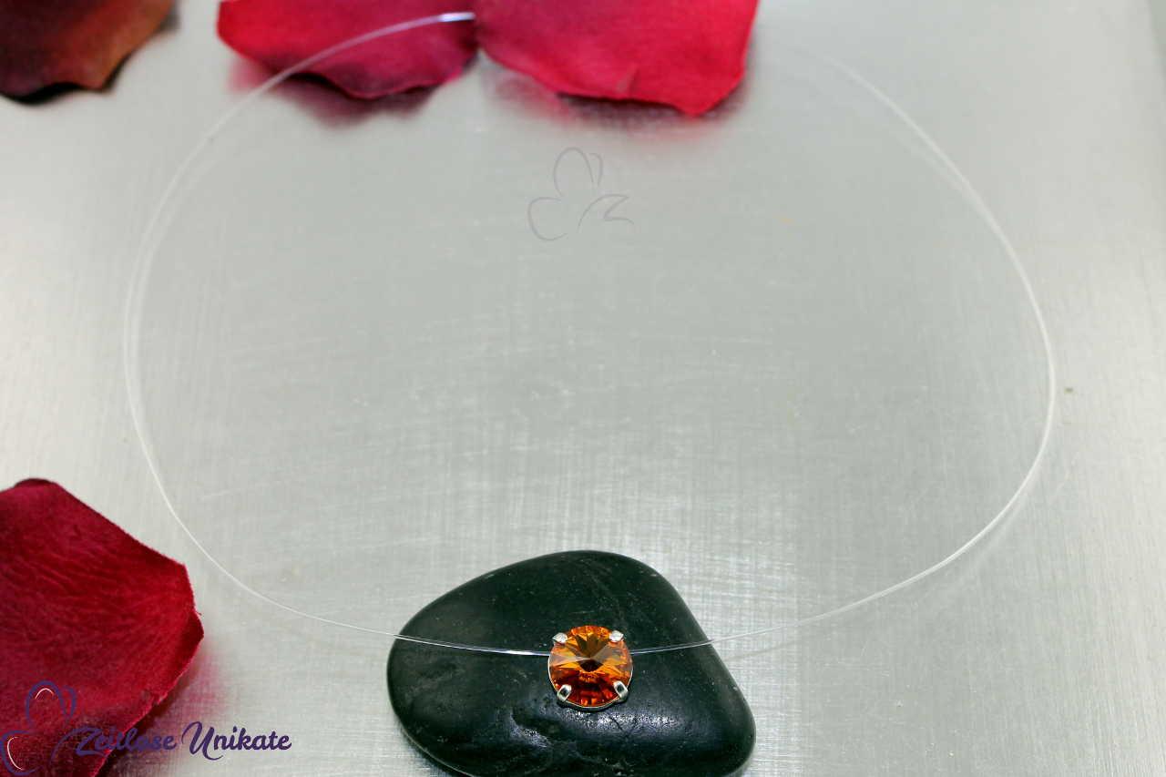 schwebender Stein topaz - topas - braun
