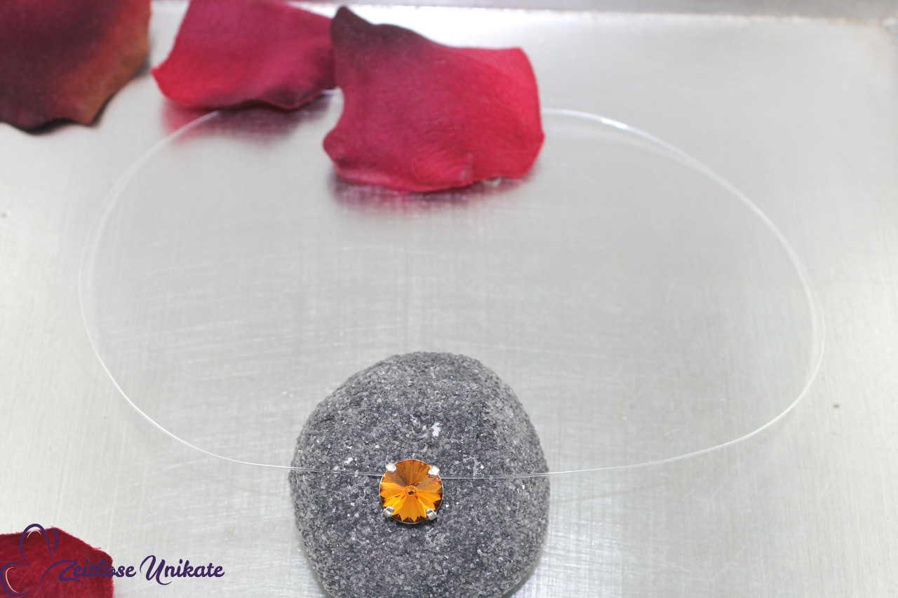 Kristallstein Topaz - braun
