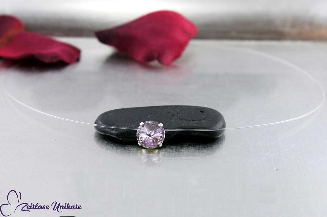 transparente Kette Vintage lila = violet