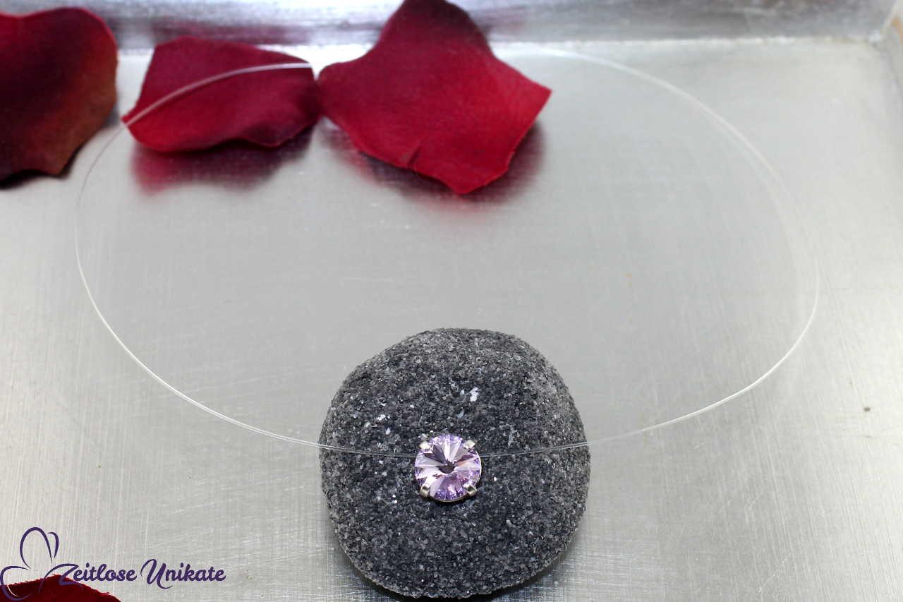 Kristallstein violet - violett, pastellila