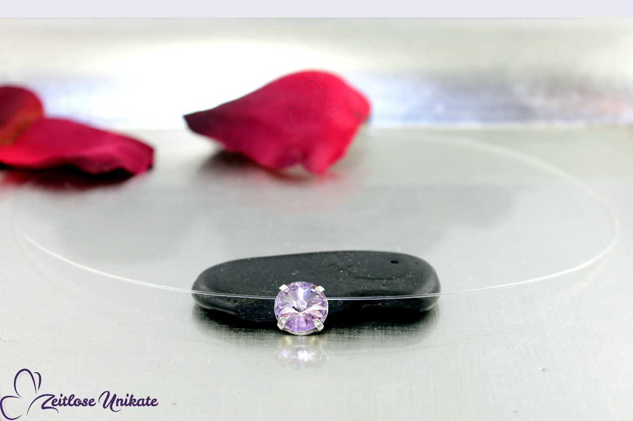 schwebender Stein violett - Vintage lila