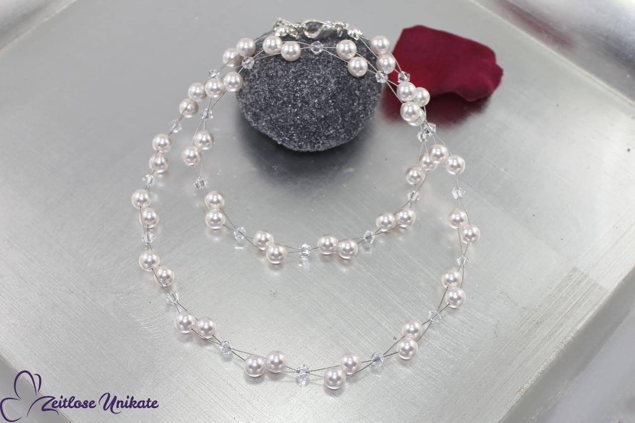 luftige Halskette für Corsagen Brautkleid