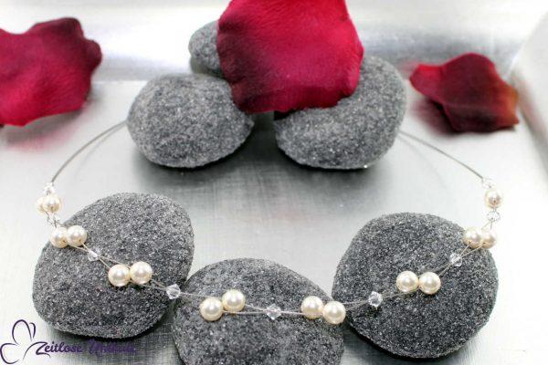 luftige Neckholder Brautkette
