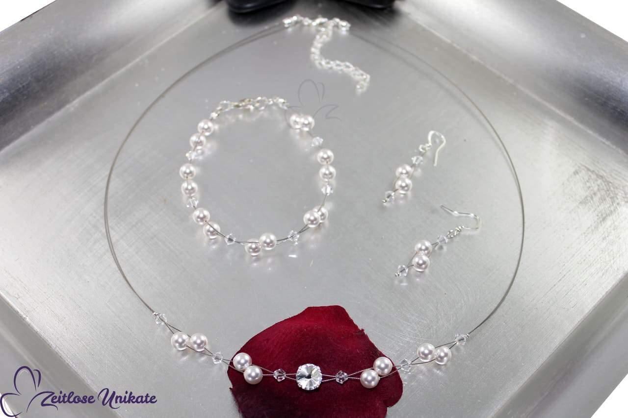 luftige Kette für die Braut mit funkelndem Kristall