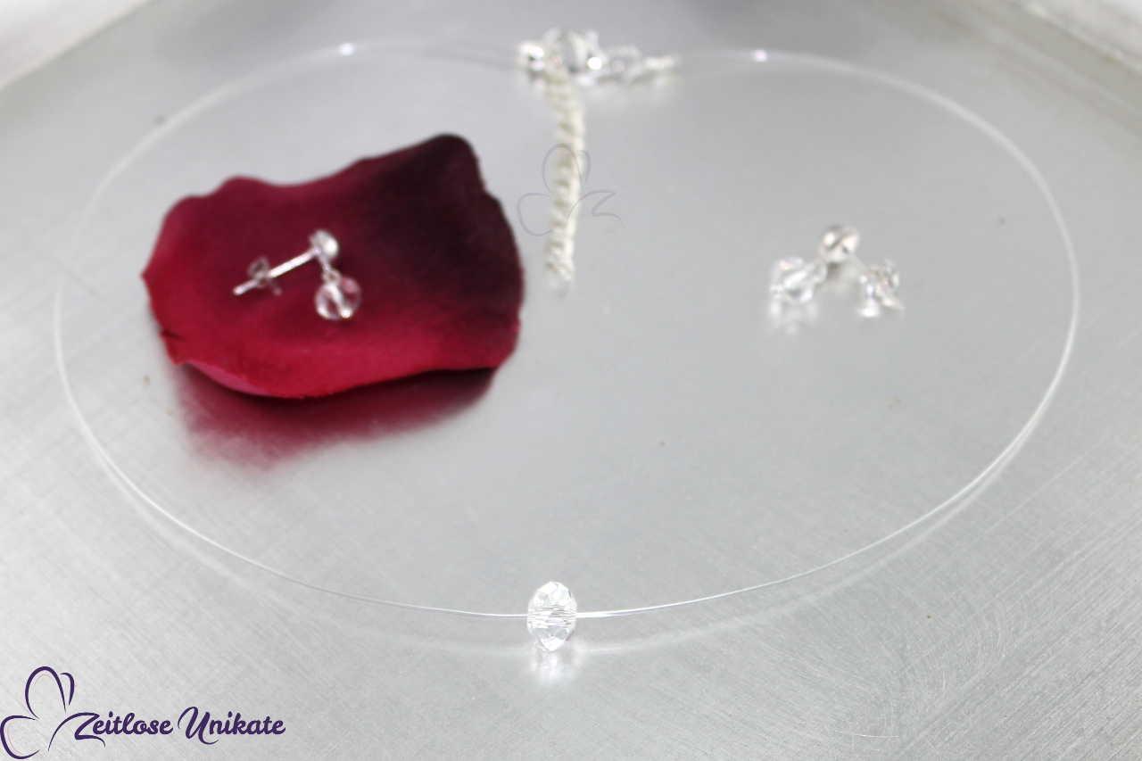 dezent funkelnde transparente Brautkette