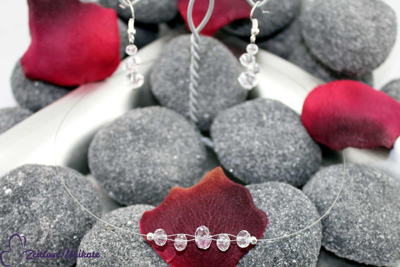 funkelnde transparente Brautkette