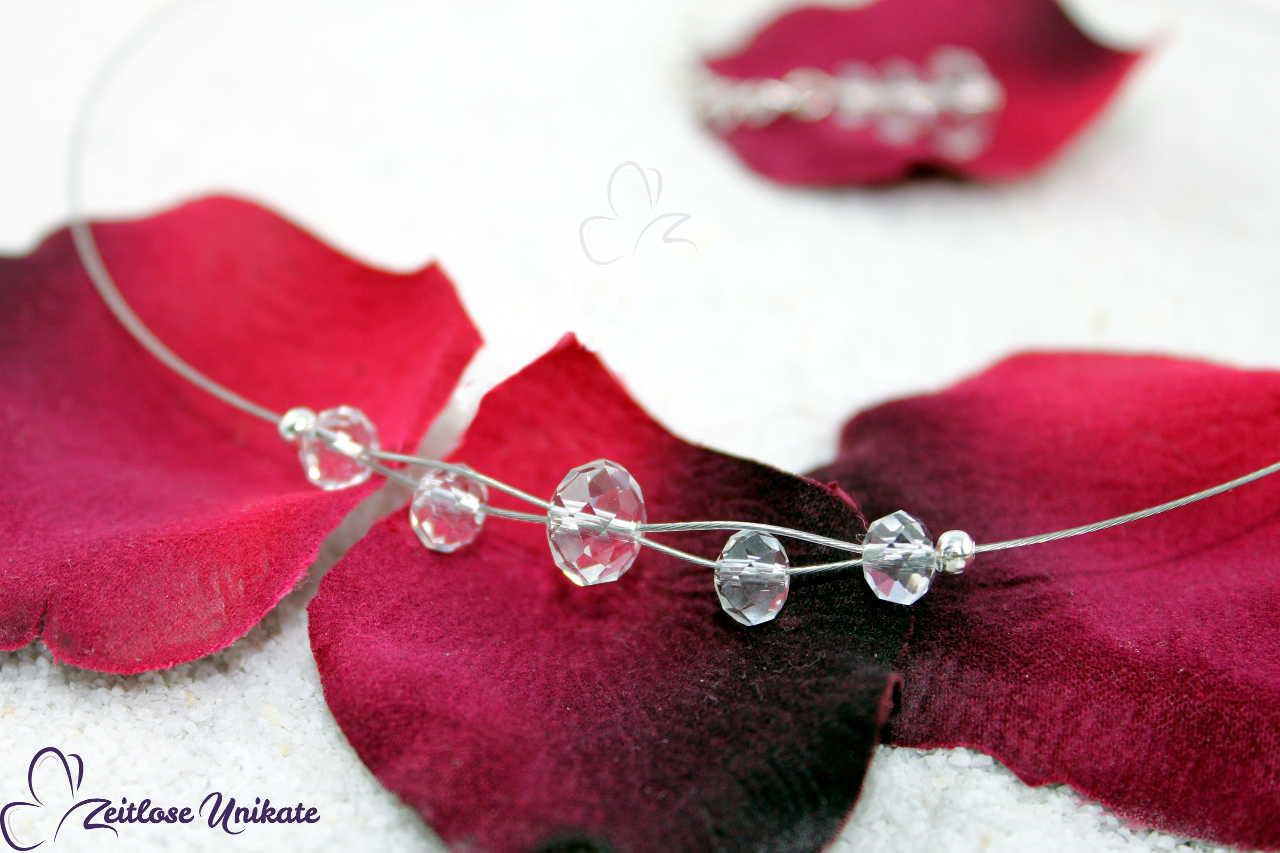 minimalistische Hochzeitskette kristallklar