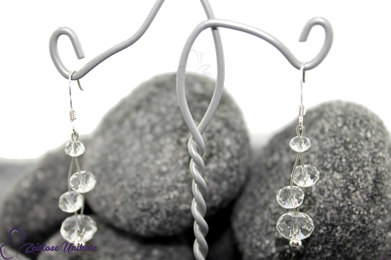 zauberhafte kristallklare Brautohrringe