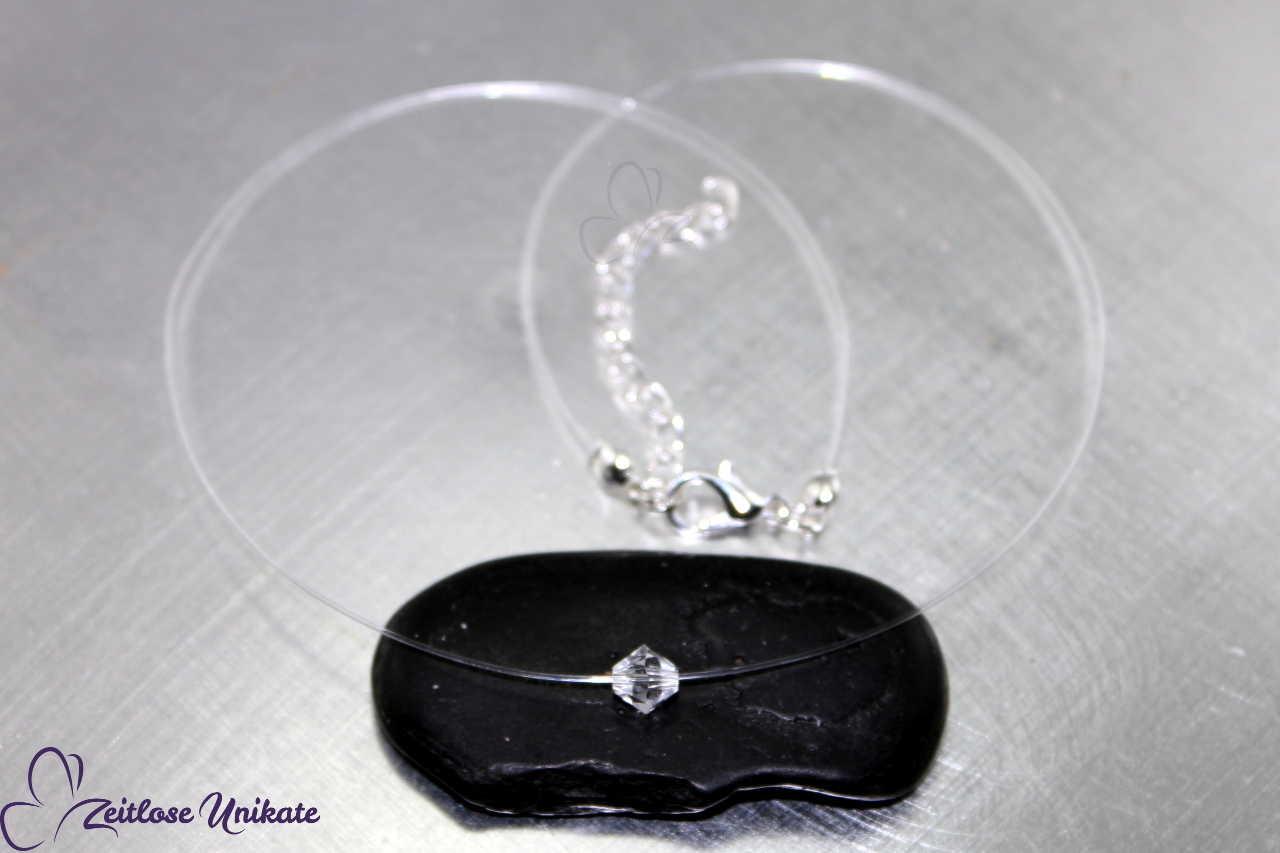 6 mm Singel schwebender Kristall Kette