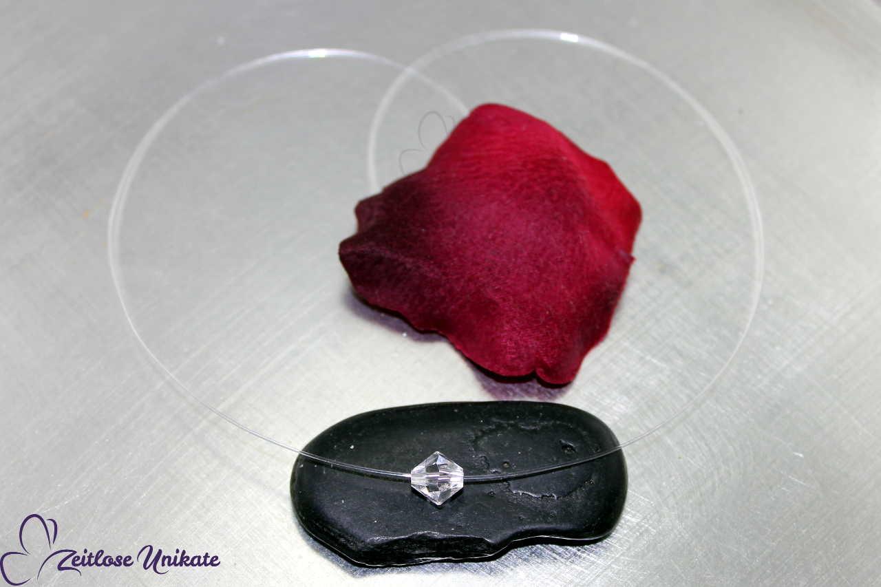 8 mm Singel schwebender Kristall, Kette