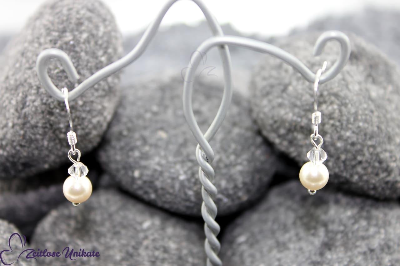 elegante und dezente Brautohrringe Ohrringe als Brautschmuck