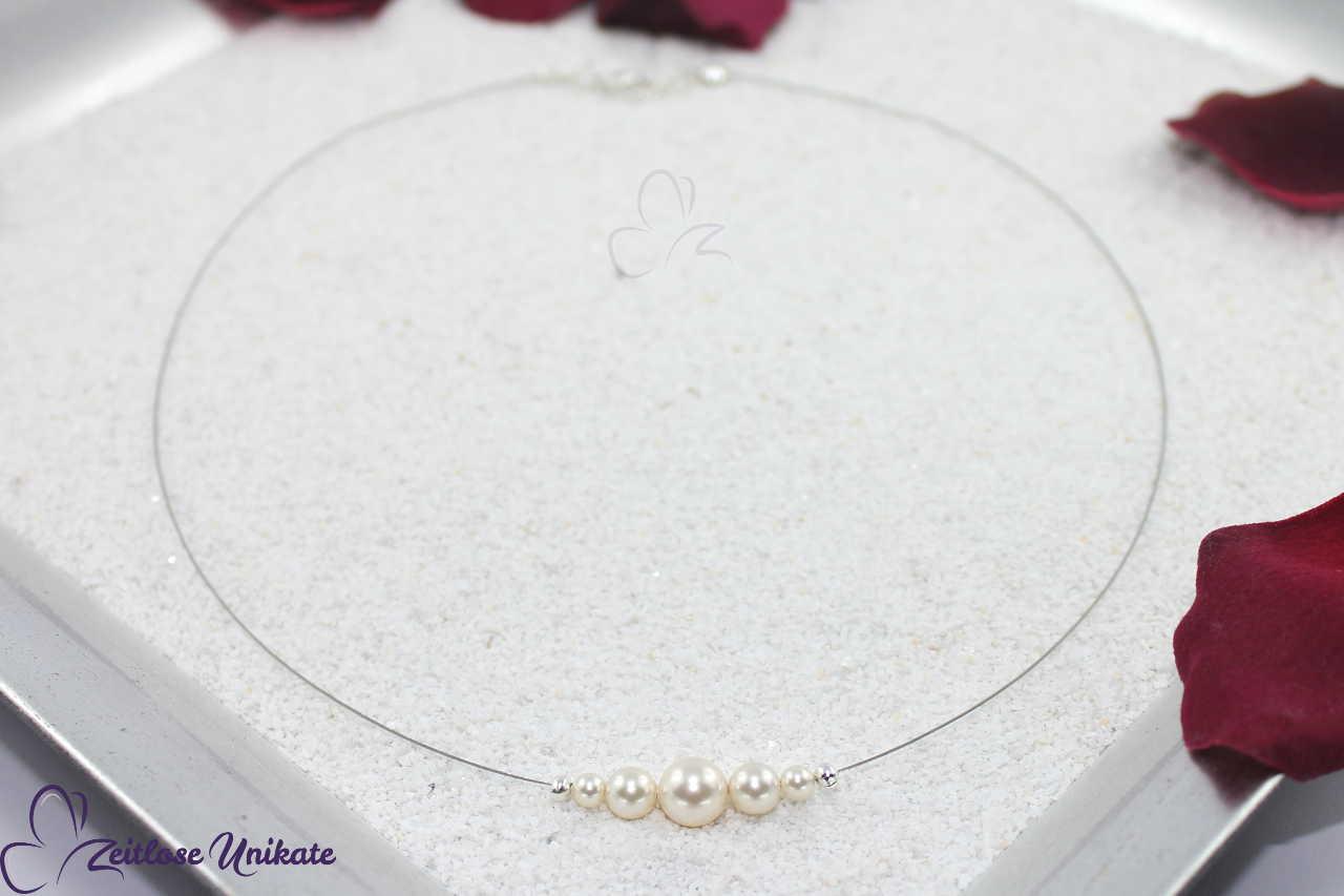 sehr schlichte Hochzeitskette Brautkette