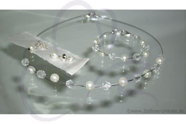 Brautschmuck, Braut Neckholderkette, Armband & Ohrringe