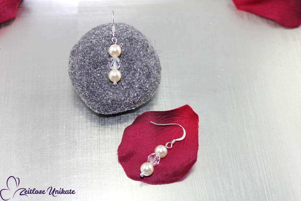 dezente sportliche & elegante Ohrringe für die Braut, zeitlos