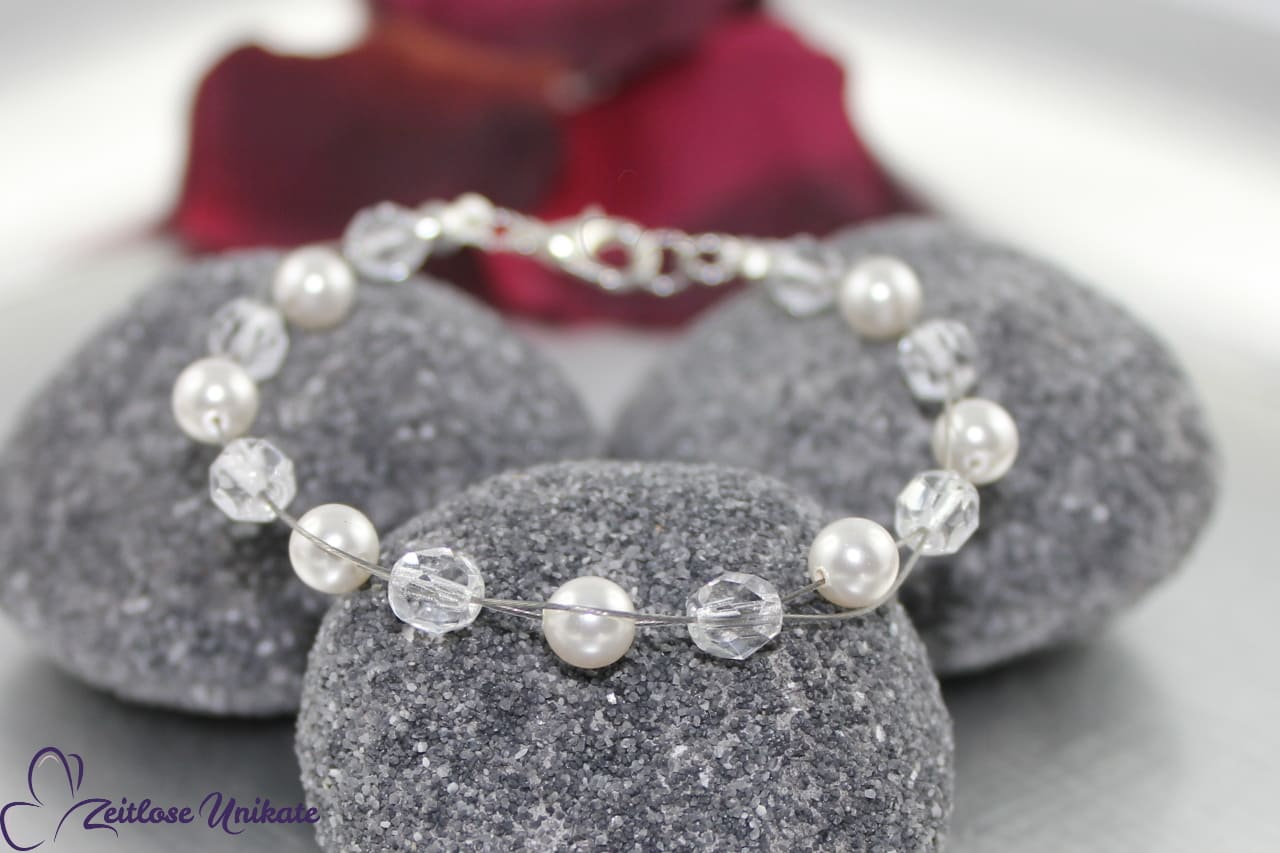 Die Schlichte, Brautarmband Perlen, elegant