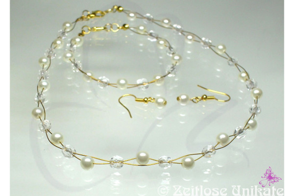 schlichte Brautkette, Brautmutter goldfarben