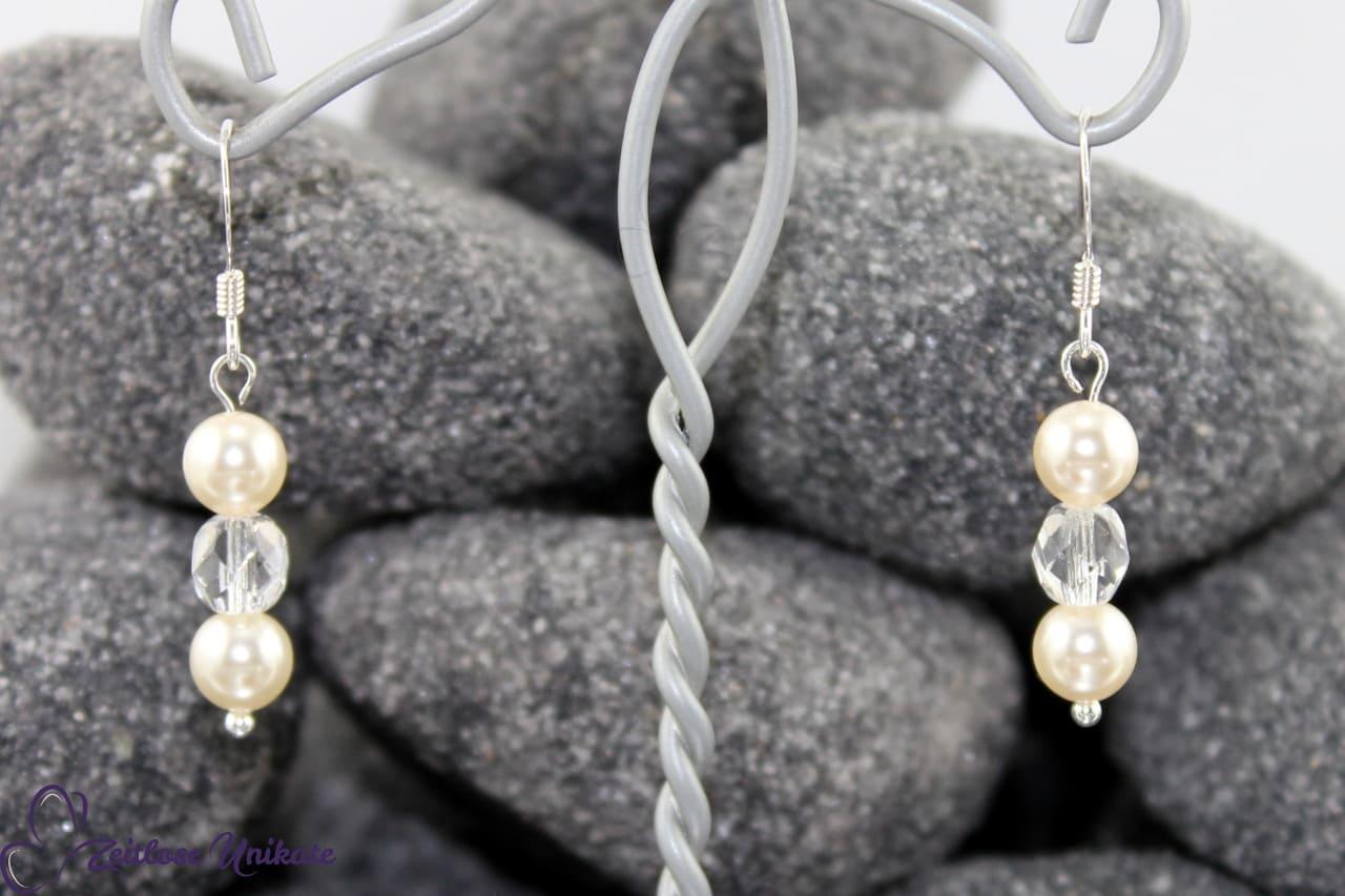 sportlich elegante Ohrringe nicht nur Brautschmuck