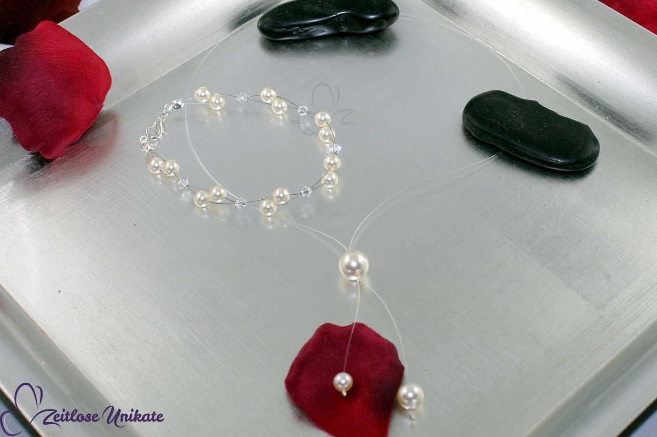 minimalistische YKette, luftiges Armband - Braut