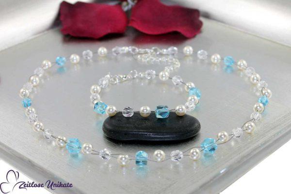Blaue Perlen Kette, Hochzeit, Brauch, Schmuck