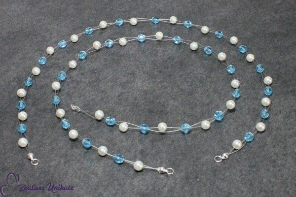 Haarschmuck mit blauen Perlen Hochzeit