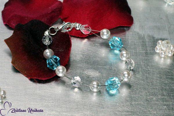 Hochzeit Etwas Blaues im Brautschmuck
