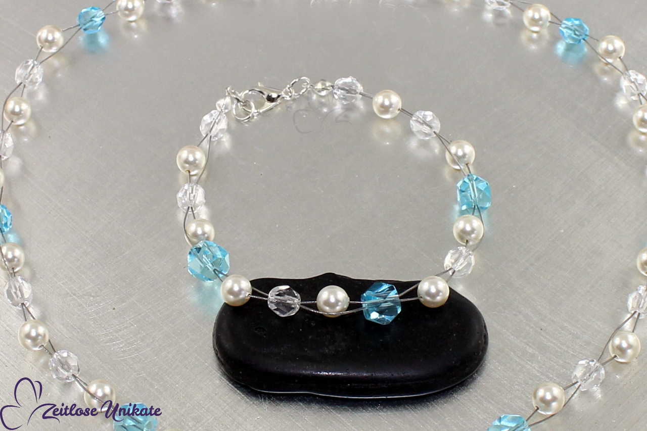 zauberhaftes Perlenarmband, Etwas Blaues