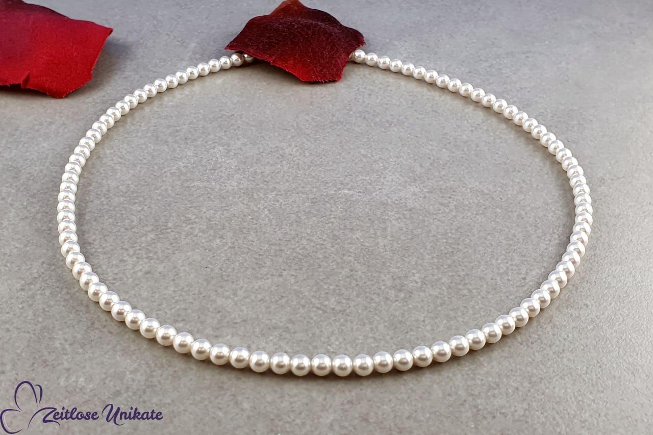 Hochzeitskettchen zarter Perlenschmuck, Kette