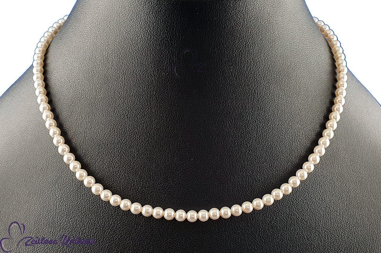 zierliche Perlenkette, klassische Hochzeitskette - Brautschmuck