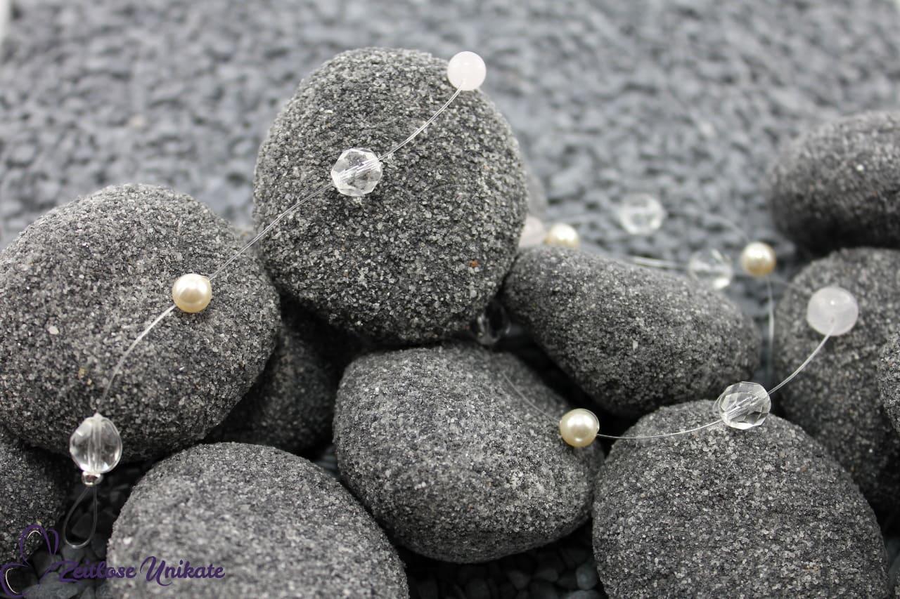 8 mm Glasschliffperlen, schlichtes Perlenhaarband, Braut