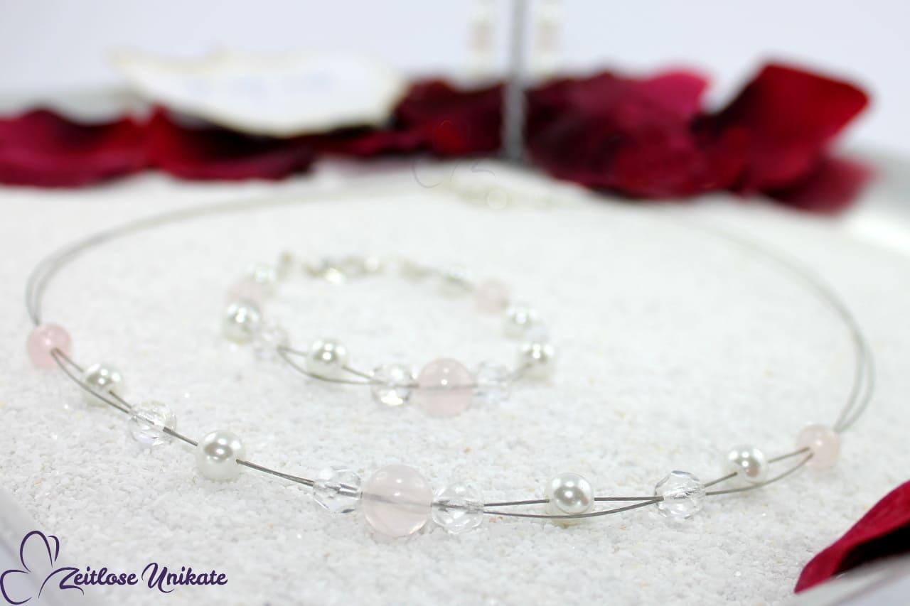 kleine Schwester von Rosenquarz Brautkette