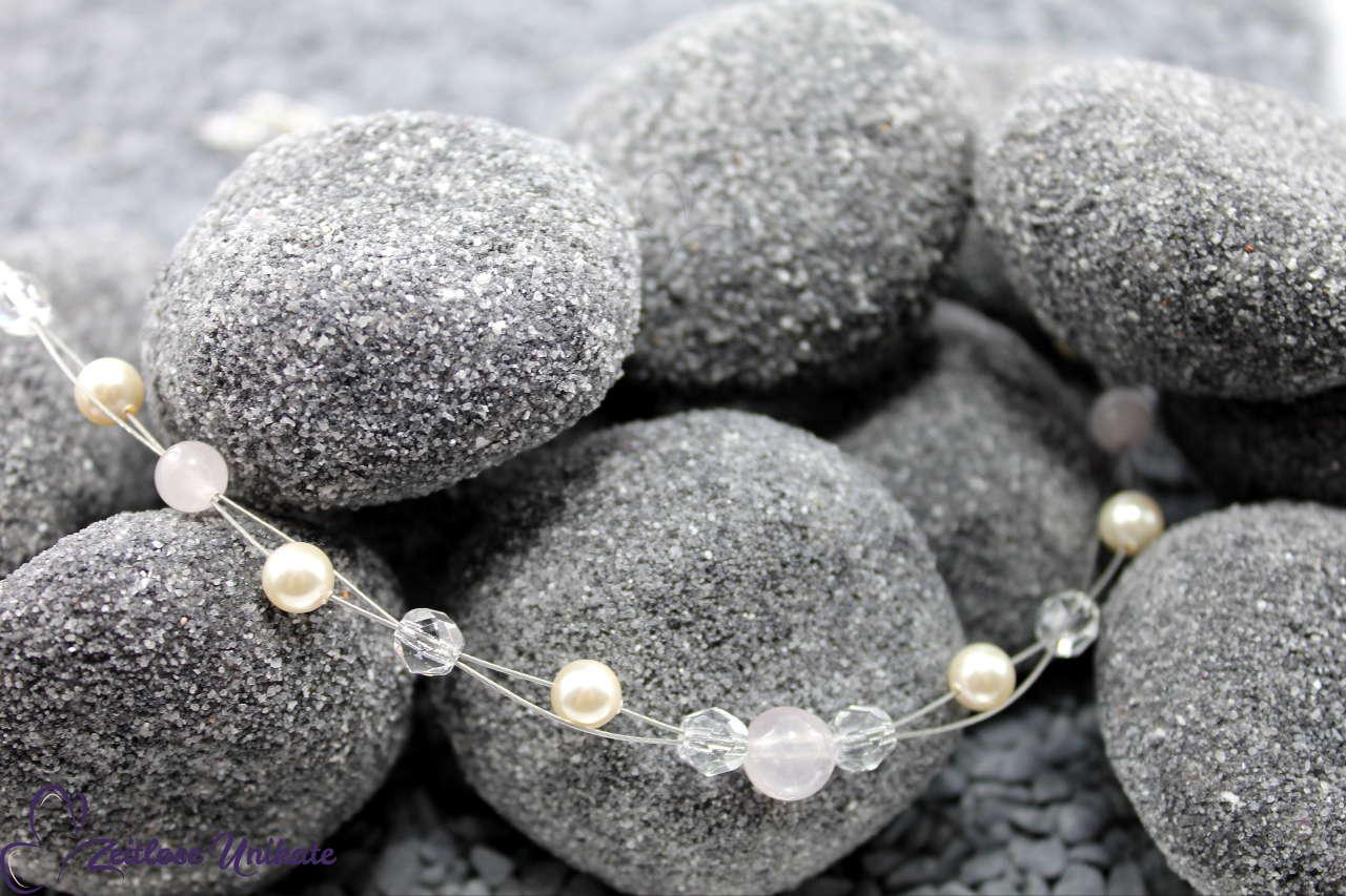 Mineralquarz Brautkette