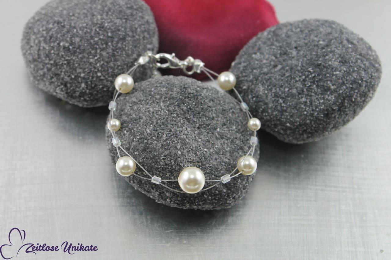 Aus der Reihe tanzen Armband, Perlen Braut