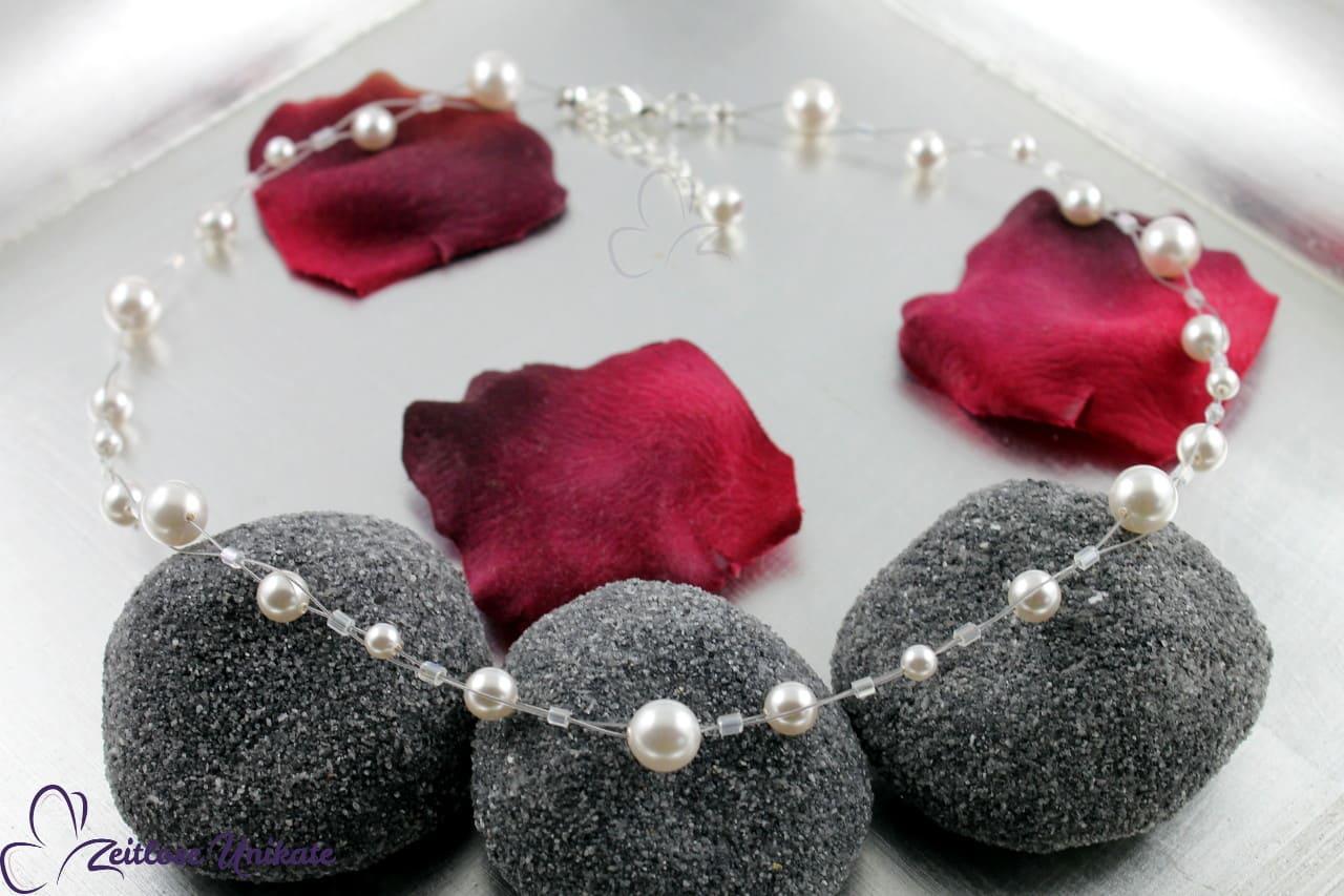 mal eine andere Brauthalskette tanzende Perlen