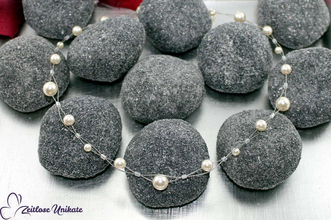 verspielte, elegante Brautkette aus Perlen