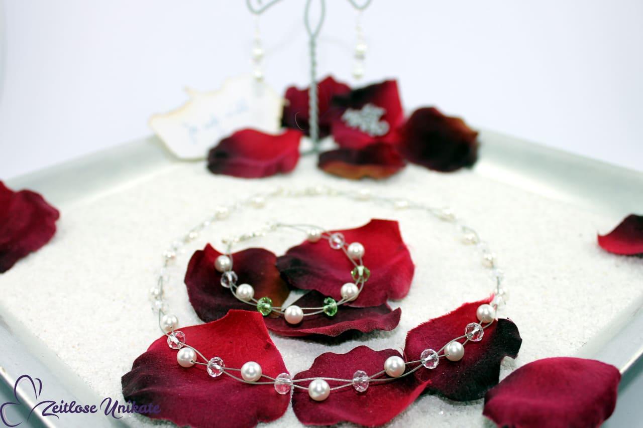 wunderschöne Hochzeitskette, elegant aber nicht spießig