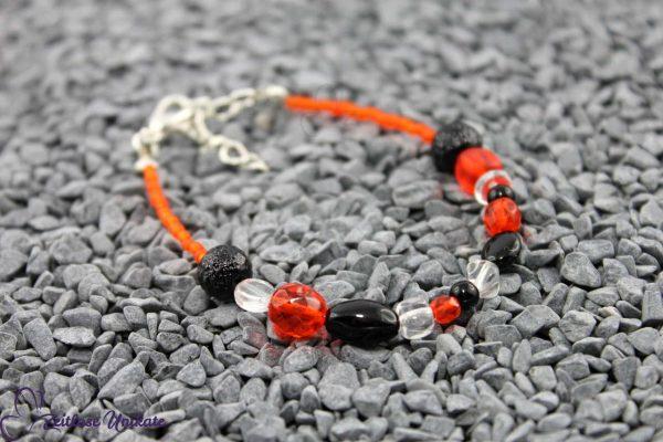 Armkette rot orange und schwarz