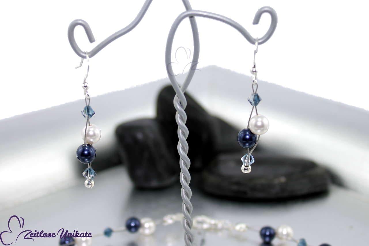 Ohrringe mit atemberaubende Kristallperlen